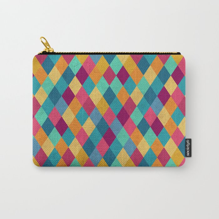 Circus Multicolor Rhombuses Carry-All Pouch