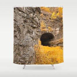 Paw Paw Tunnel - Golden Age Nostalgia Shower Curtain