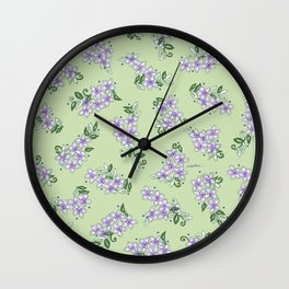 The Little Lilac Flowers are Home; In Memory of Mackenzie Wall Clock