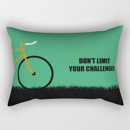 Lab No. 4 -Don't Limit Your Challenges Corporate Start-Up Quotes Rectangular Pillow