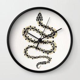 Serpent – Black & Gold Wall Clock