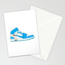 "N I K E AIR JORDAN THE 10: AIR JORDAN 1 ""OFF-WHITE"" Blue Stationery Cards"
