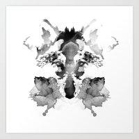 rorschach Art Prints featuring Rorschach by Robert Farkas