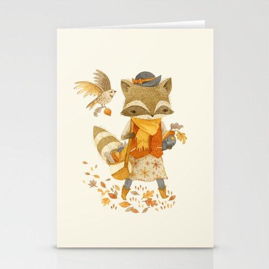 Rebecca the Radish Raccoon Stationery Cards