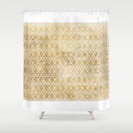 Maize Trellis Pattern Shower Curtain