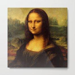 Famous art, Mona Lisa by Leonardo  Da Vinci. Metal Print