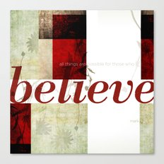 Mark 9:23 Canvas Print