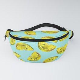 Lemon Slices Pattern Turquoise Fanny Pack