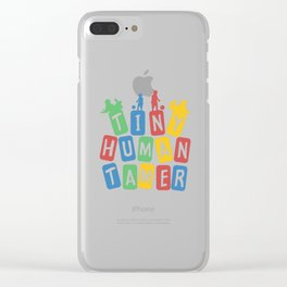 Tiny Human Tamer Clear iPhone Case