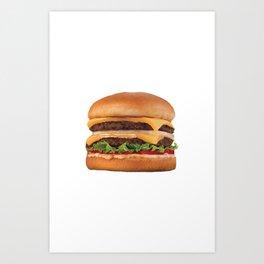 Juicy Double Cheeseburger Art Print
