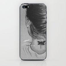 Lauren Jauregui Dragonfly Tattoo Sketch iPhone & iPod Skin