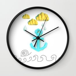 Papercraft Paper Planet. Sea Life Wall Clock