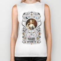 marie antoinette Biker Tanks featuring Ornate Marie Antoinette by Ryan Huddle House of H
