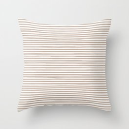 Skinny Stroke Horizontal Nude on Off White Throw Pillow