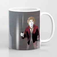 the hobbit Mugs featuring Hobbit by Digital Sketch