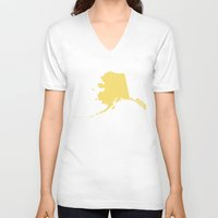 alaska V-neck T-shirts featuring Alaska by Hunter Ellenbarger