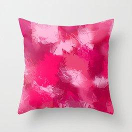 Cubist Valentines Pink Pattern Throw Pillow