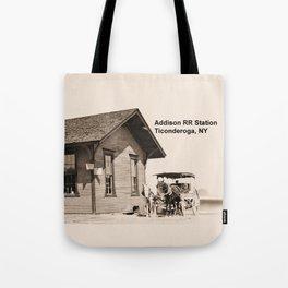Addison Railroad Station, Ticonderoga Tote Bag