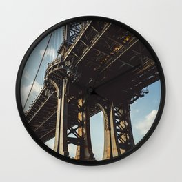 Under Manhattan bridge Wall Clock