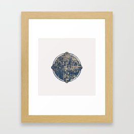 Blue Squircle Framed Art Print