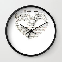 Chanson L'Amour Vintage Romance Wall Clock