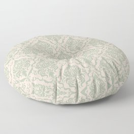 Ivory and Sage Green Damask Pattern Floor Pillow