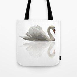 Geometric Swan Tote Bag