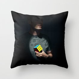 The distinguished gentleman with a cube heart Throw Pillow