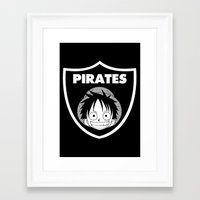 pirates Framed Art Prints featuring Pirates  by Buby87