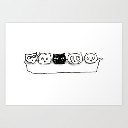 Cat Egg Art Print