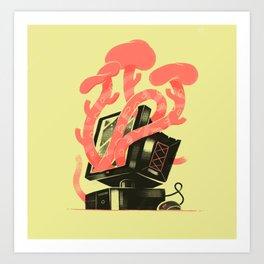 Mushroom Computing Art Print