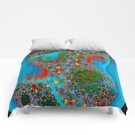 Abstract Topography Comforters