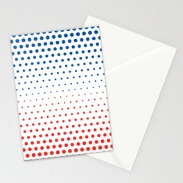 Bleu Blanc Rouge-Wide - Living Hell Stationery Cards