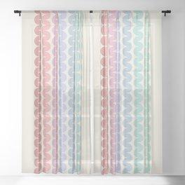 Rainbow Falls VII Sheer Curtain