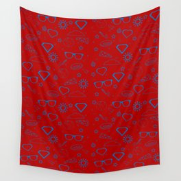 Supergirl/Kara's pattern - blue Wall Tapestry