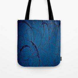 Navy Blue - Jackson Pollock Style - Modern Art Tote Bag