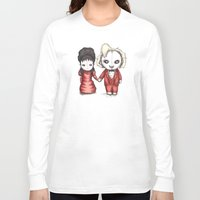 wedding Long Sleeve T-shirts featuring Beetle Wedding by Ludwig Van Bacon