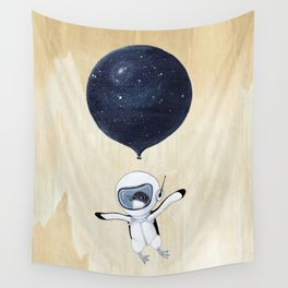 Penguin fly Wall Tapestry