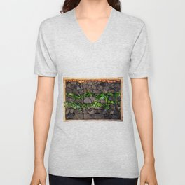 Coal and Leaves 01 Unisex V-Neck