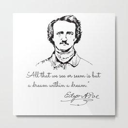 Unique Portrait Reveals Young Edgar Allan Poe Metal Print
