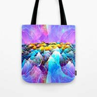 data Tote Bags featuring Data Sea by NatalieCatLee