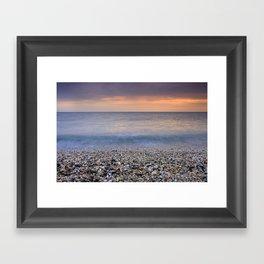 """Serenity sea"". Calm days at the sea Framed Art Print"