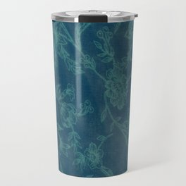 Flower Pattern (Green version) Travel Mug