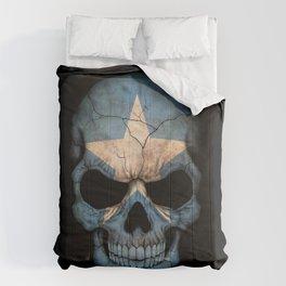 Dark Skull with Flag of Somalia Comforters
