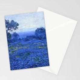 Bluebonnet pastoral scene landscape painting by Robert Julian Onderdonk Stationery Cards