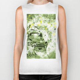 Dream wreck in grunge green kaleidoscope Biker Tank