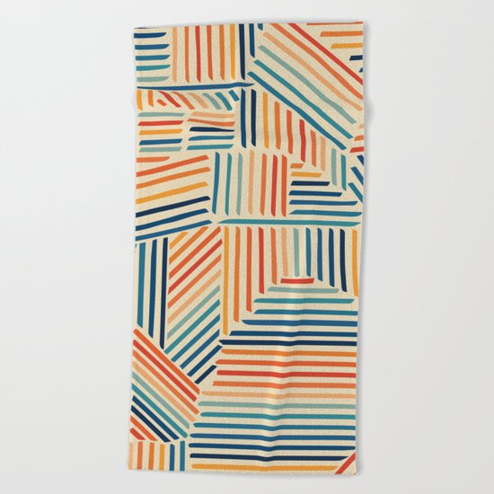 Strypes Beach Towel