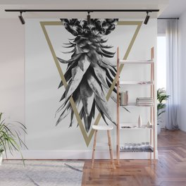 Pineapple Upside Down Geo #1 #tropical #fruit #decor #art #society6 Wall Mural