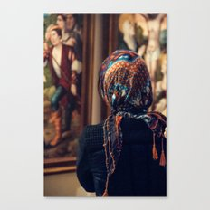 Girl with scarf Canvas Print