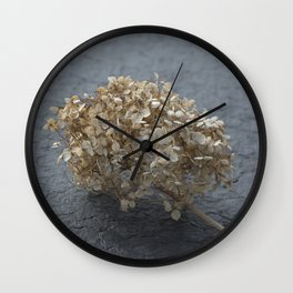 Blossoms on Blacktop Wall Clock